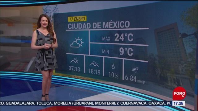FOTO: el clima con mayte carranco del 17 de enero de