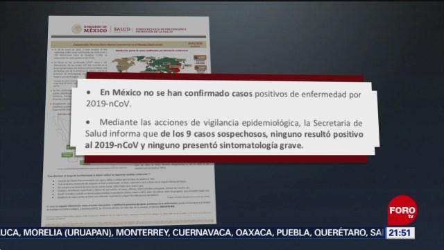 Foto: Coronavirus No Confirmado Casos México 29 Enero 2020