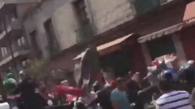 FOTO: Se registra enfrentamiento entre comerciantes y policías en la CDMX, el 18 de enero de 2020