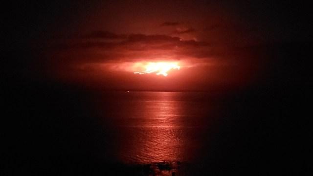 FOTO Se registra nueva erupción en volcán 'La Cumbre' de Islas Galápagos (EFE)