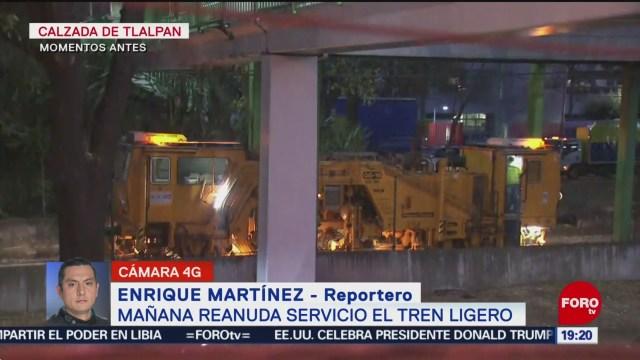 Foto: Tren Ligero Este Jueves Reanuda Servicio 15 Enero 2020