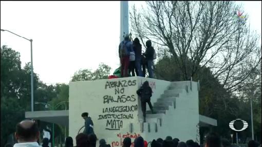 Foto: Estudiantes Cch Azcapotzalco Marchan Rectoría Unam Vandalismo 21 Enero 2020