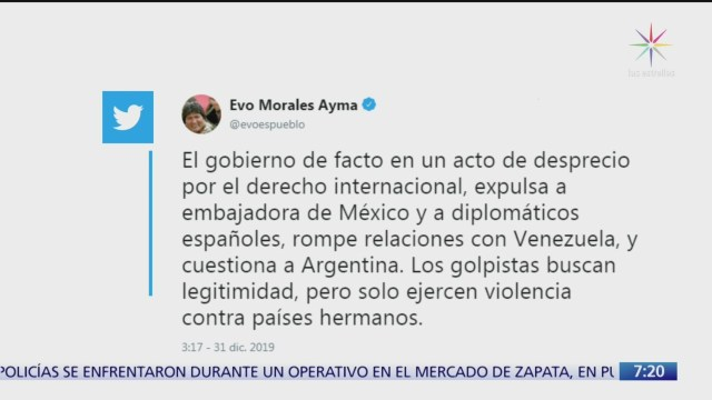 evo morales condena expulsion de funcionarios diplomaticos en bolivia
