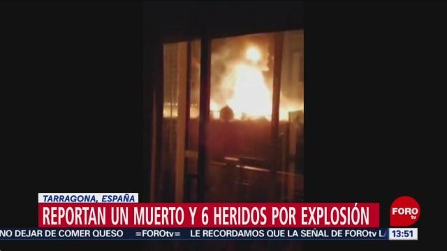 FOTO: explosion en zona industrial de espana deja un muerto