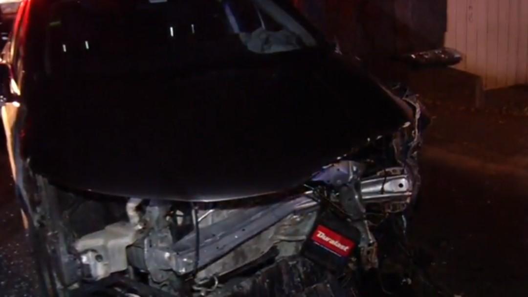 Foto: Familia resulta lesionada durante choque al sur de la CDMX