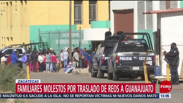 FOTO: familiares de reos de cieneguillas molestos por traslado a guanajuato