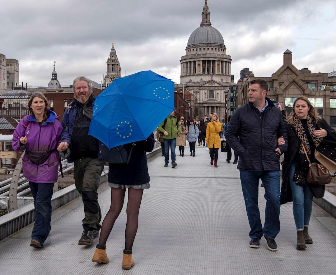 Foto: Los proeuropeos también salieron a la calle, 31 de enero de 2020, (EFE)