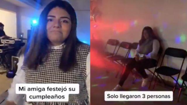 Foto Joven organiza gran fiesta de cumpleaños; sólo van 3 invitados y se vuelve viral 20 enero 2020