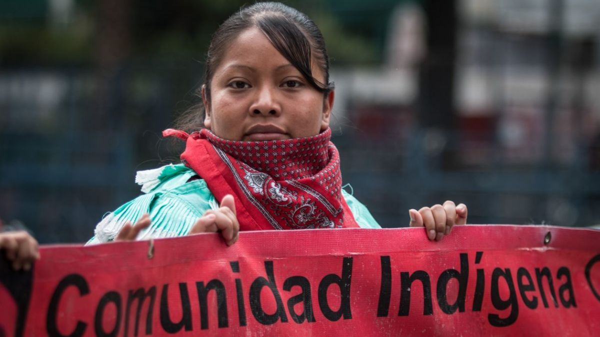 Foto: Integrantes de la comunidad indígena protestan en calles de la Ciudad de México. Cuartoscuro