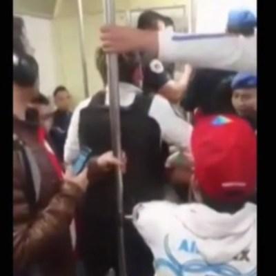 Graban pelea en estación Chabacano del Metro de la CDMX
