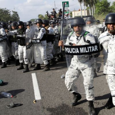 Foto: Guardia Nacional detiene a migrantes centroamericanos en Tapachula, Chiapas. Reuters