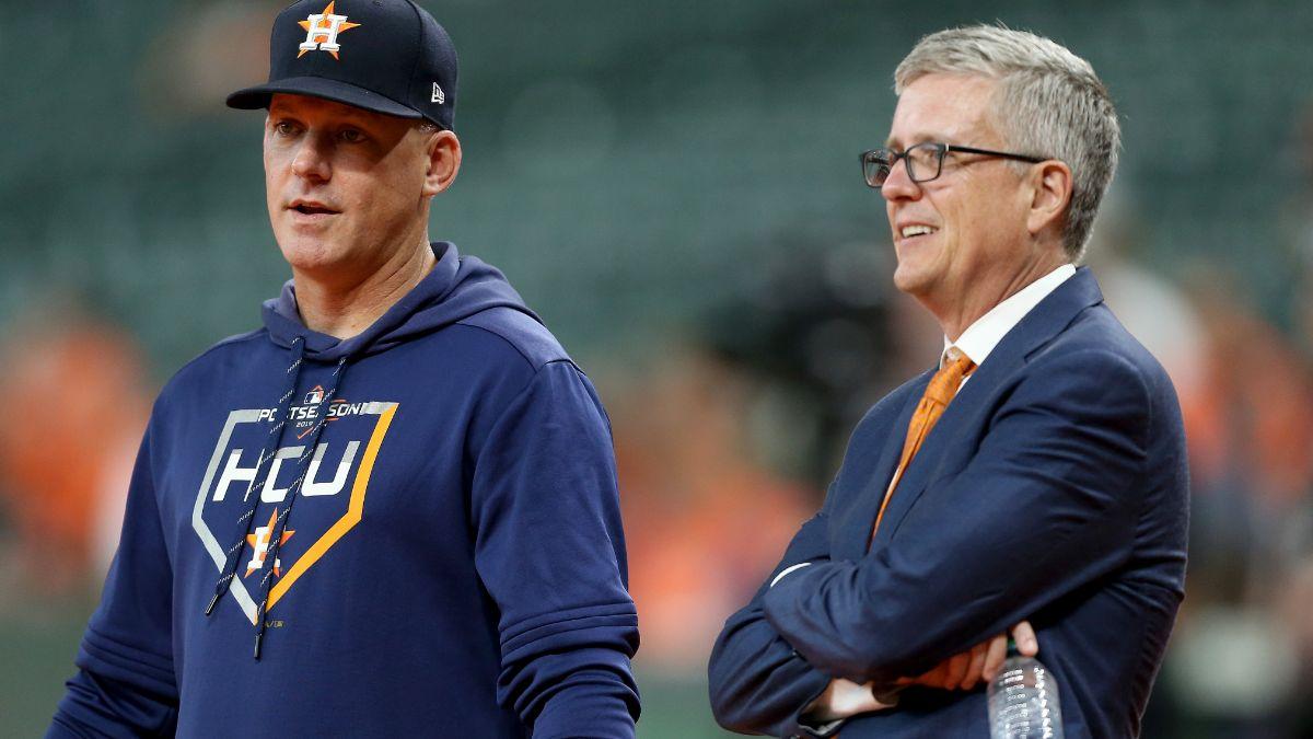 Foto: Mánager, A. J. Hinch, y a, Jeff Luhnow, gerente de los Astros de Houston. Getty Images