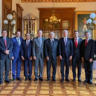 Foto: Gobernadores del PRI se reunieron con el presidente Andrés Manuel López Obrador.