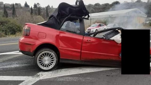 Foto: Tres jóvenes murieron en el lugar del accidente.