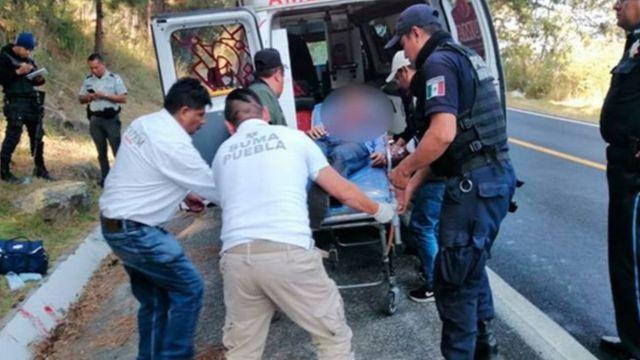 Foto: Paramédicos atendieron al sacerdote Roly Candelario Piña Camacho.