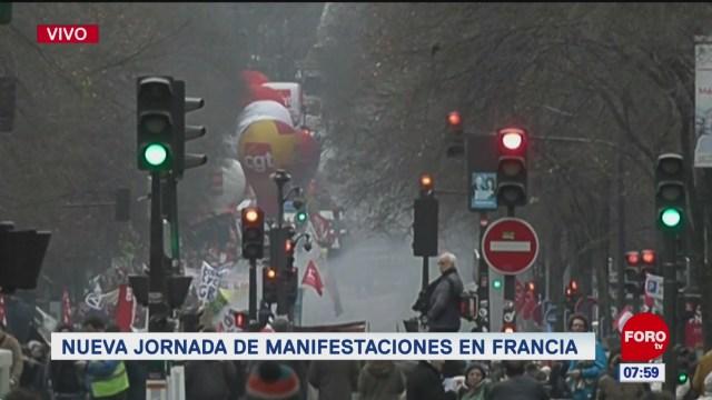 francia enfrenta nueva jornada de huelga masiva contra reforma de pensiones