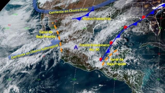Foto: Estas condiciones se extienden por el Golfo de México, mismas que afectan a Veracruz, Oaxaca, Chiapas, Tabasco, Campeche y Quintana Roo