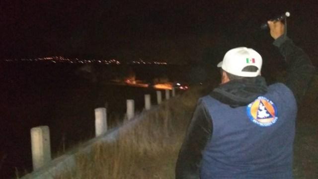 Se registra fuga de gas en forma de fuente por posible toma clandestina en Tecamachalco, Puebla