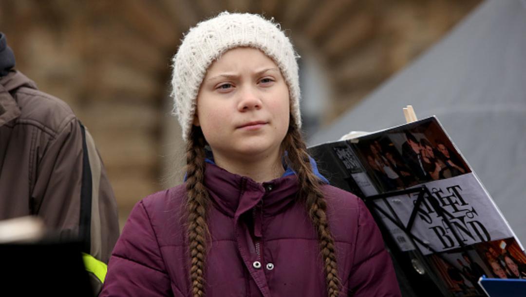 Greta Thunberg celebra sus 17 años con protesta contra el cambio climático, 3 de enero de 2020, (Getty Images, archivo)