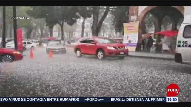 Foto: Video Pátzcuaro Michoacán Granizada Cubre Blanco 20 Enero 2020
