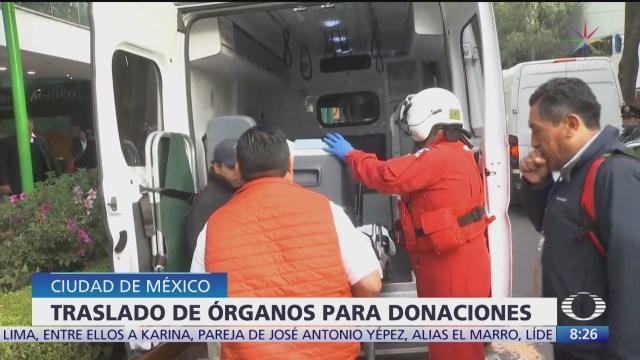 grupo relampagos realiza traslado de organos en helicoptero