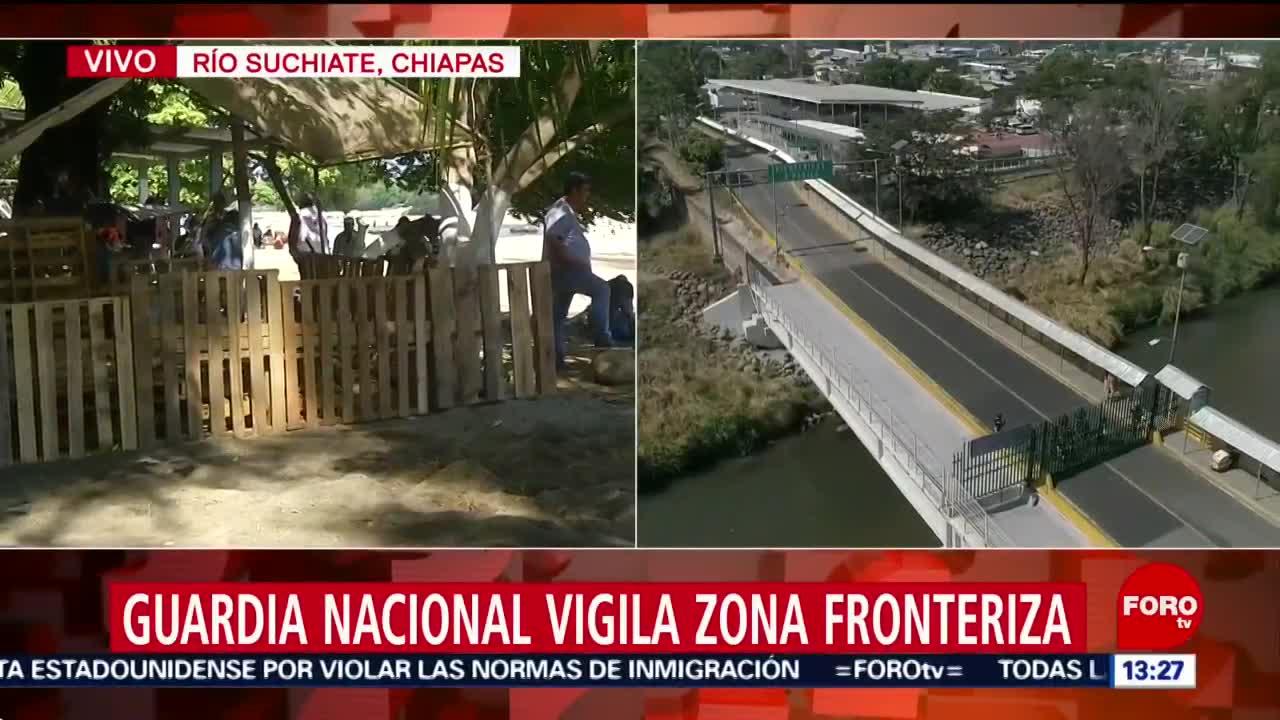 FOTO: guardia nacional vigila la frontera sur de mexico