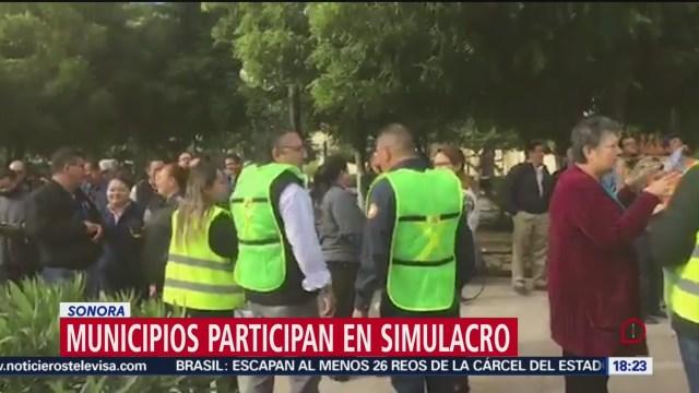 FOTO: habitantes y autoridades de sonora participan en macro simulacro nacional