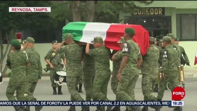 FOTO: homenaje postumo a militares muertos en reynosa