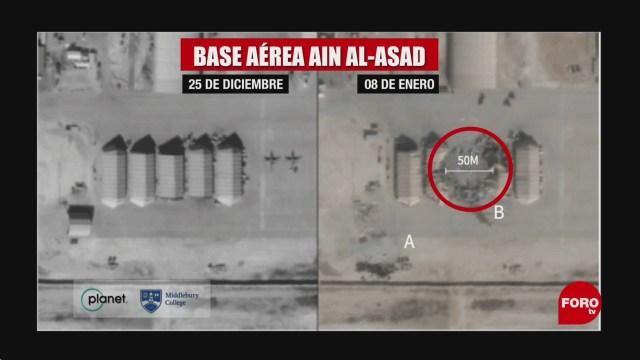 Foto: Imágenes Satelitales Daños Bases Estados Unidos Irak 8 Enero 2020