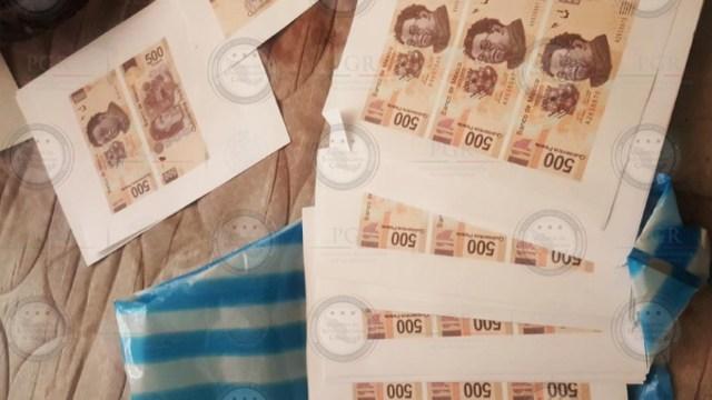 Foto: Desmantelan banda criminal que falsificaba billetes en CDMX, 12 de enero de 2020 (FGR, archivo)