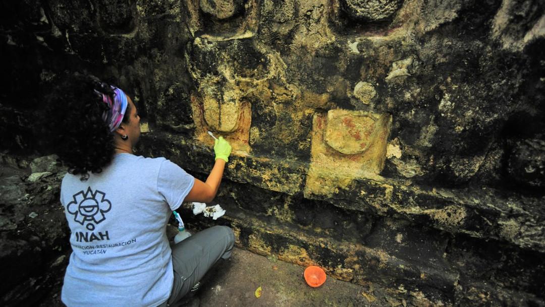 INAH protege y restaura pirámides mayas en Yucatán