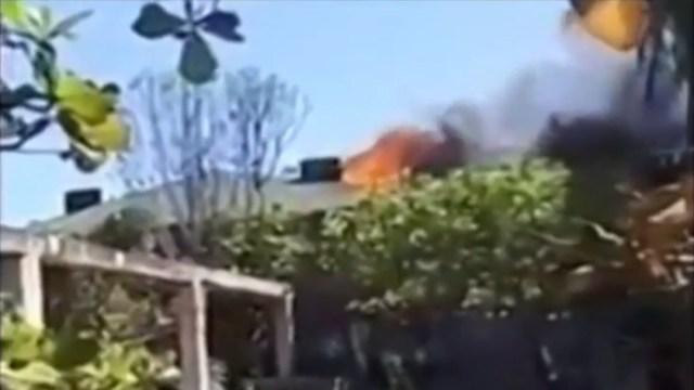 FOTO: Se registra fuerte incendio en hotel de Chiapas, el 19 de enero de 2020