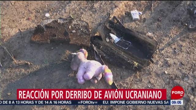 FOTO: 11 enero 2020, iran admite derribo de avion comercial ucraniano por accidente