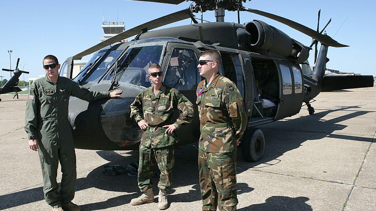 Foto: Un helicóptero Blackhawk del Ejército de Estados Unidos en una base de Irak. AP