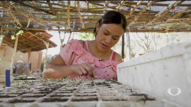 Foto: Jóvenes Trabajan Granja Agroecológica Taxco Guerrero 21 Enero 2020