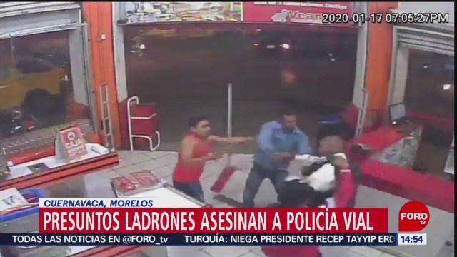 FOTO: ladrones asesinan a policia vial en cuernavaca