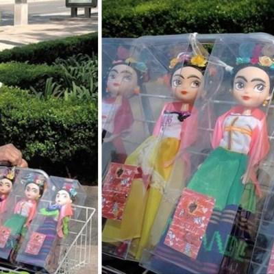 'Friditas': las muñecas artesanales de Frida Kahlo que vende una abuelita en CDMX