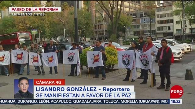 FOTO: manifestacion en favor de la paz en reforma cdmx
