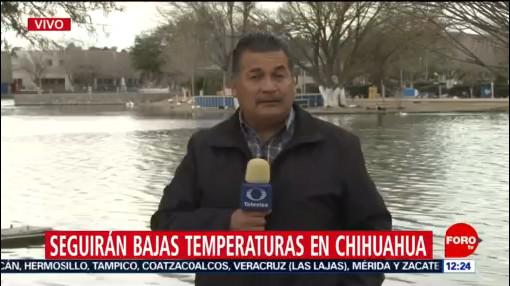 mantienen pronostico de bajas temperaturas en chihuahua