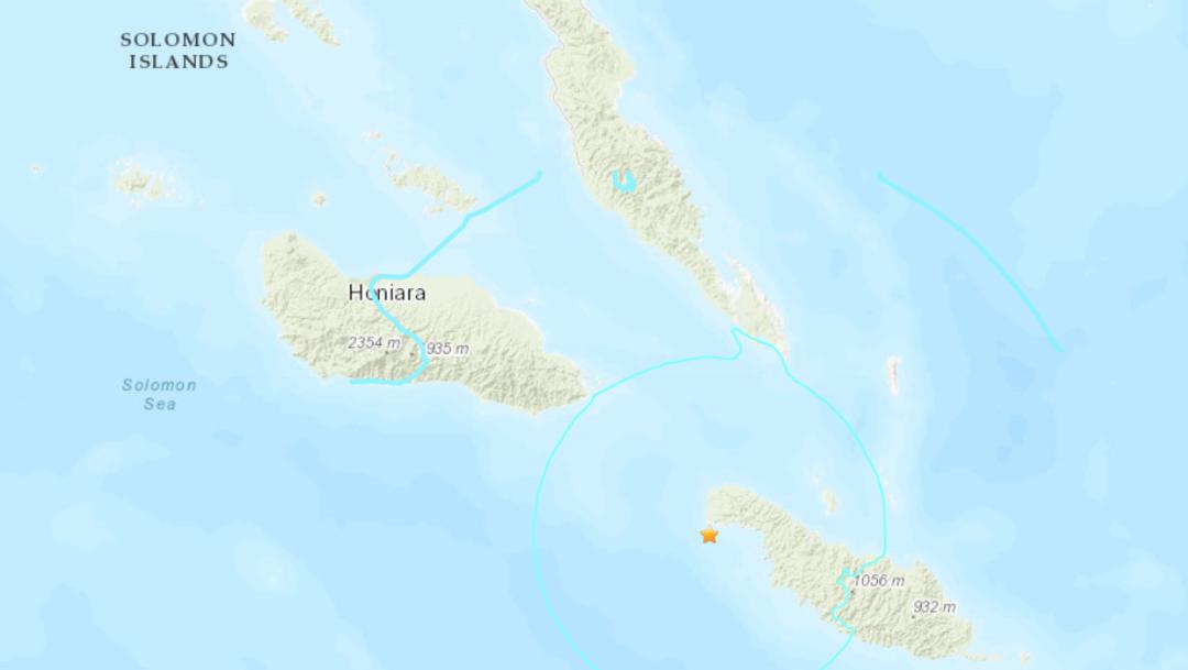 IMAGEN: Mapa sismo Isla salomón