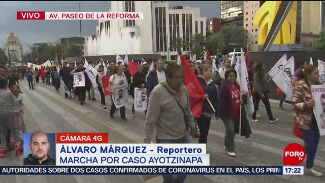 FOTO: 26 enero 2020, marcha por ayotzinapa sobre paseo de la reforma