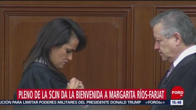 FOTO: margarita rios farjat asume como nueva ministra de la scjn