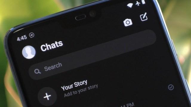 la pantalla de Messenger de Facebook