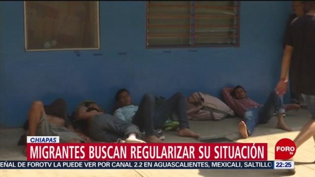 FOTO: 26 enero 2020, migrantes buscan regular su situacionlegal en mexico