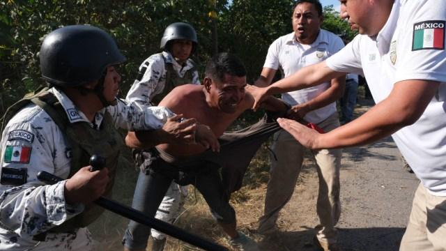 Foto: Elementos de la Guardia Nacional y del Instituto Nacional de Migración detuvieron a migrantes centroamericanos, 24 enero 2019