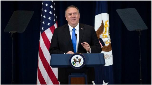 Imagen: Mike Pompeo reconoció la posibilidad de que Irán ataque a tropas de su país, 5 de enero de 2020 (AP)