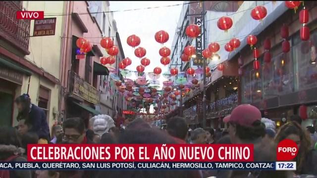 FOTO: miles de personas llegan al barrio chino de la cdmx por ano nuevo