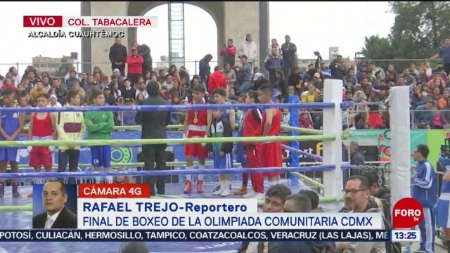 FOTO: 19 enero 2020, monumento a la revolucion es sede de la final de olimpiada comunitaria de boxeo