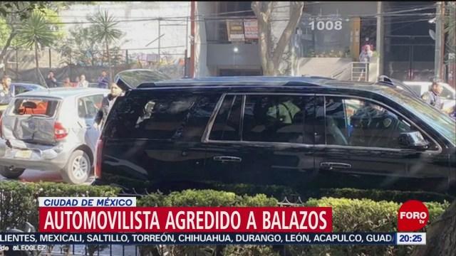 Foto: Motociclista Agrede Balazos Automovilista Cdmx 22 Enero 2020