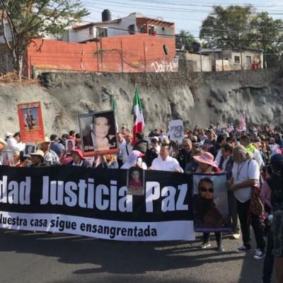 Foto: Este jueves inició la 'Caminata por la Verdad, Justicia y Paz', que salió de Cuernavaca